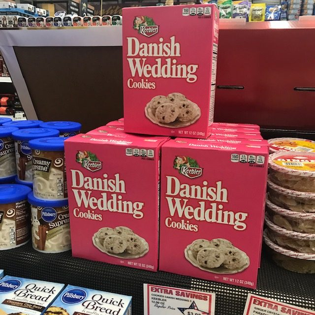 Danish weeding cookies